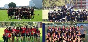 Equipos de UAM (izquierda) y UNAM (derecha). Torneo 2015