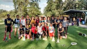 Entrenamiento conjunto UNAM y UAM. Septiembre 2015. Foto cortesía de UNAM Lacrosse