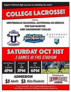 Foto cortesía de UNAM lacrosse